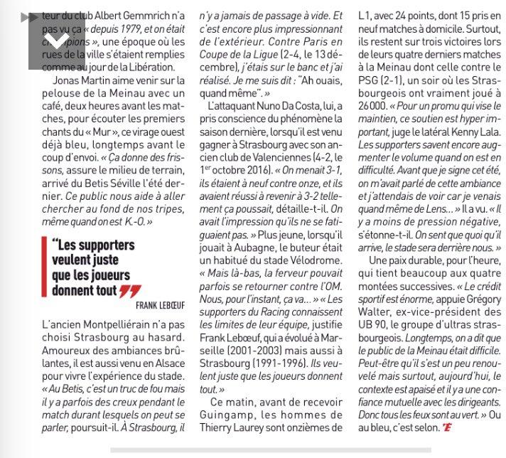 RT @jeremy_RCS: Lumière sur le public de la Meinau, l'un des meilleurs 😎🤘🏼. #Ligue1 #LiveRCS #RCSAEAG 🔵⚪️ https://t.co/ymZhoJfNDs