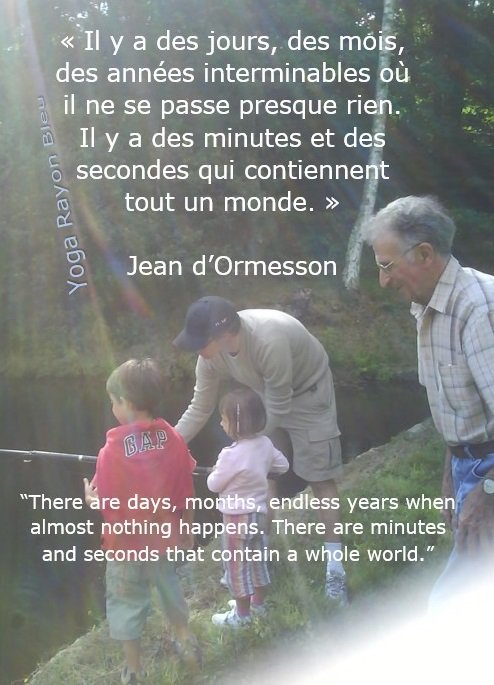"""Il y a des jours, des mois...."" Jean d'Ormesson ""There are days, months, endless years when almost nothing happens..."" Photo Yoga Rayon Bleu, Pissarotte - Nieul France #yoga #citations #hathayoga #yogafrance #YogaRayonBleu #yogalove<br>http://pic.twitter.com/qlelVUhBsG"