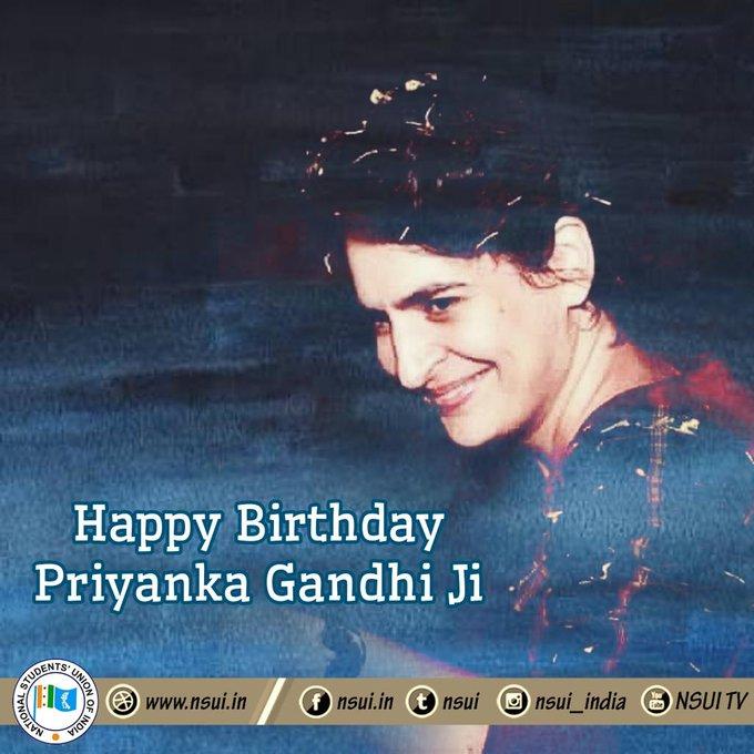 A very Happy Birthday to Smt. Priyanka Gandhi Vadra  Many Many Happy Returns of the Day, Stay blessed!