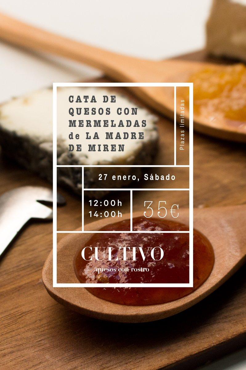 Las primeras plazas ya han caído. Cata de quesos con las mermeladas de @lamadredemiren 😍  Enlace directo ➡️ http://www.queseriacultivo.com/taller-conde-duque…