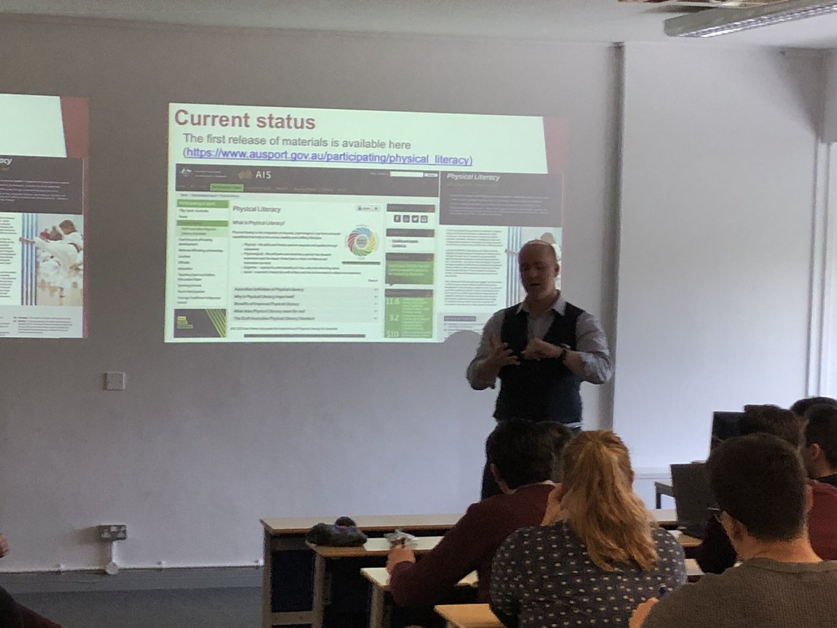 Fantastic presentation from @SportPsychAus on his journey into Australian Physical Literacy an insightful &amp; informative presentation @cardiffmet today as part of our first @CardiffMetS_PE #PhysicalLiteracy forum #researchquality #collaboration #pommiebattler<br>http://pic.twitter.com/UO9CvgPSEx