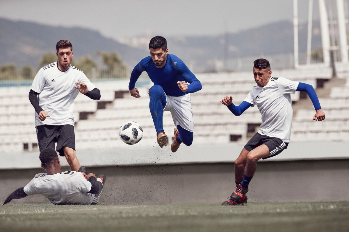 Play explosive. 💥 The new #Alphaskin performance base layer, worn by @LuisSuarez9. #HereToCreate
