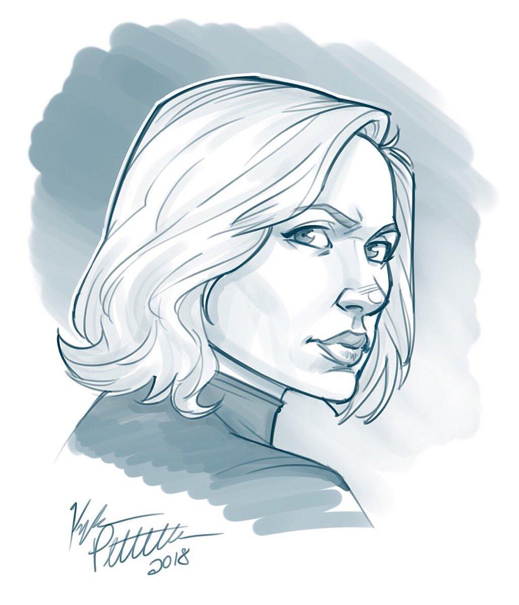 Kyle Petchock Art On Twitter Black Widow Warm Up Sketch