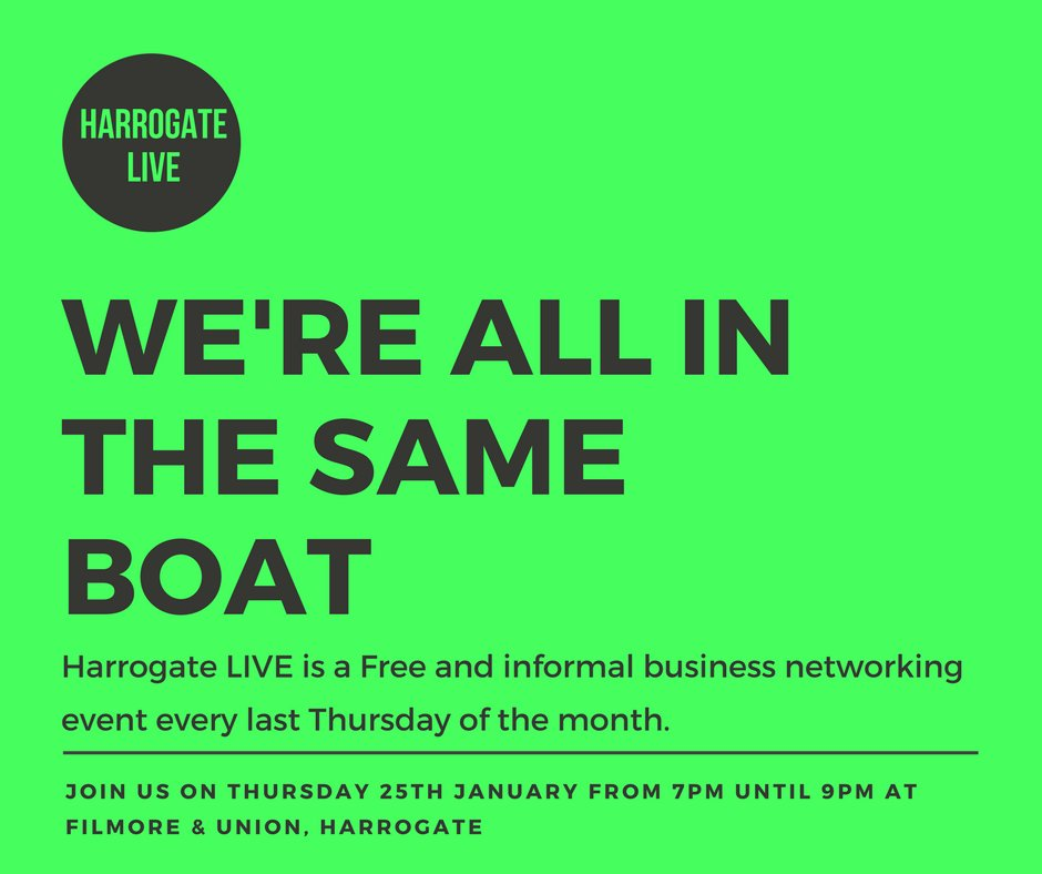 Networking for the first time can be daunting but, just remember we&#39;re all in the same boat. Register for free today:  http:// ow.ly/8nlF30hADBx  &nbsp;   #networking #harrogate #harrogatebiz #yorkshirebiz #indieharrogate #networkingevent #networkinggroup #letsdothis #inthesameboat<br>http://pic.twitter.com/87WwEVCczt