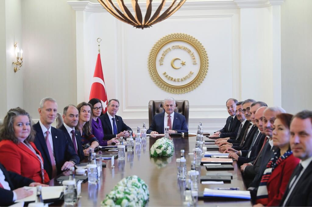 Image result for Liam Fox and Warren East in Ankara