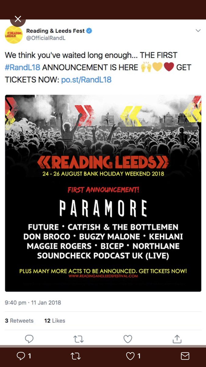 Is this the first #RandL18 announcement? What do you think? @OfficialRandL