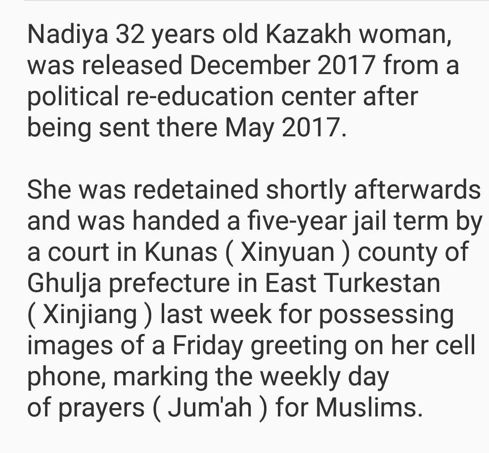 Abdugheni Sabit On Twitter Nadiya 32 Years Old Kazakh Woman Was