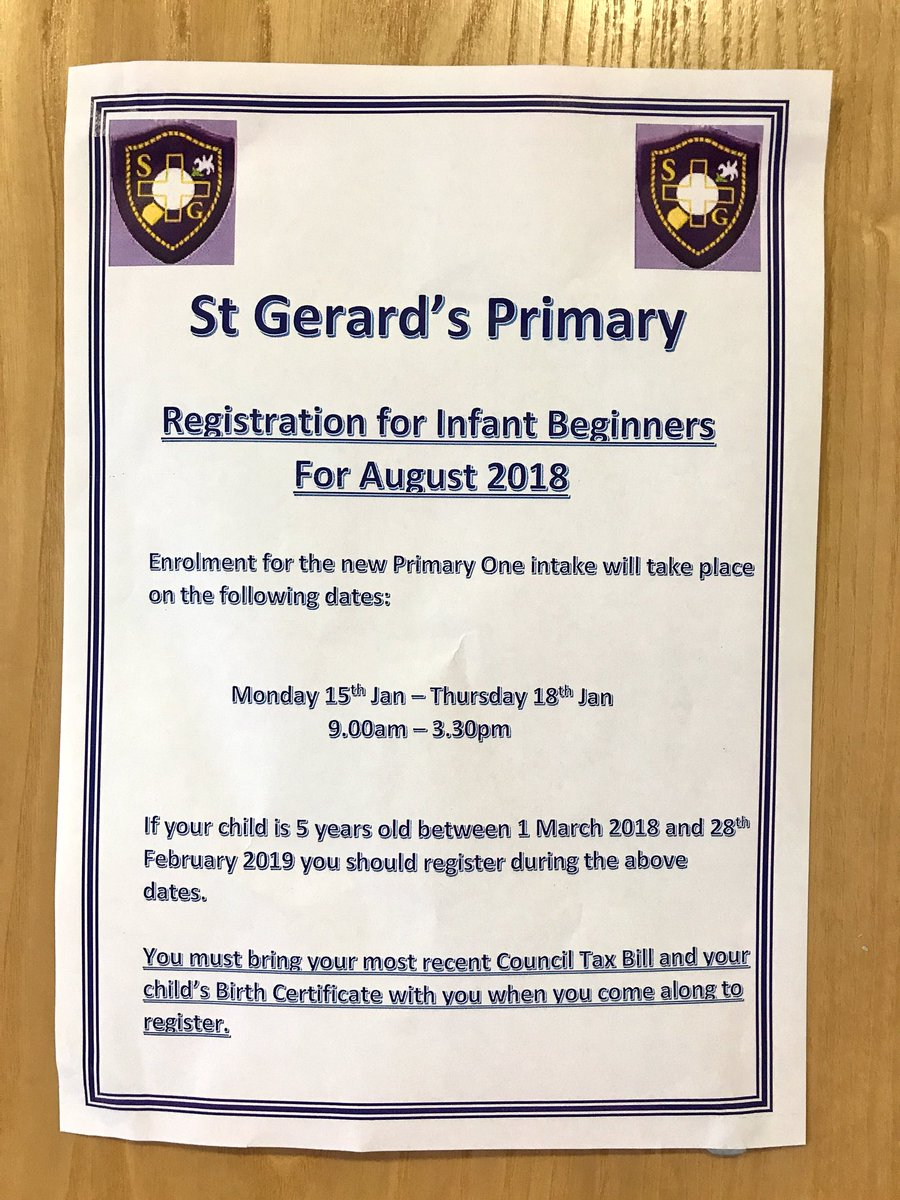 St Gerards Primary On Twitter We Enrol Our Infant Beginners Next