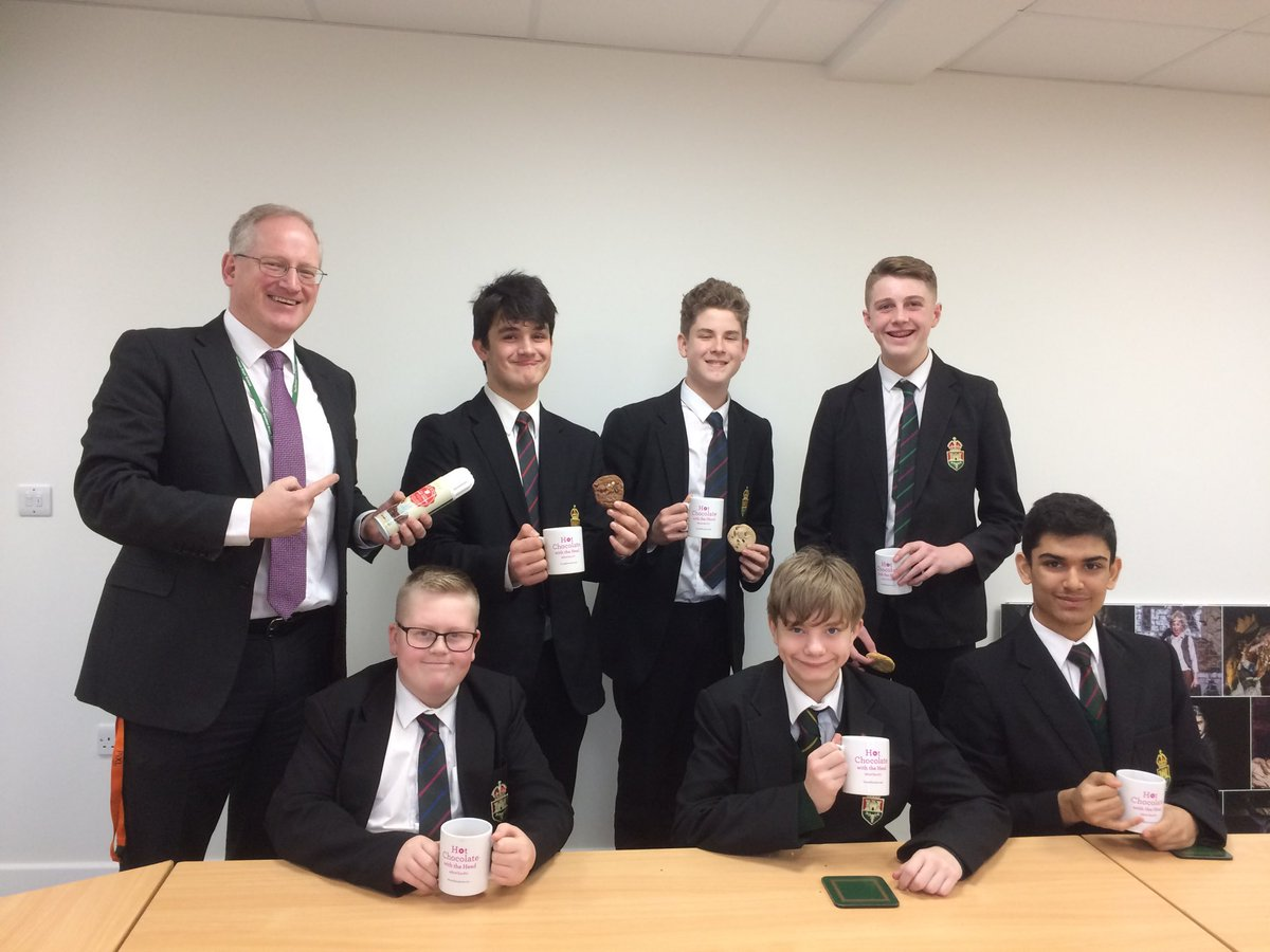 test Twitter Media - Another lovely break time with some charming, intelligent and hard-working students nominated by their teachers for #HotChocFri with the Head. Well done boys! https://t.co/PUyox4S2Fn