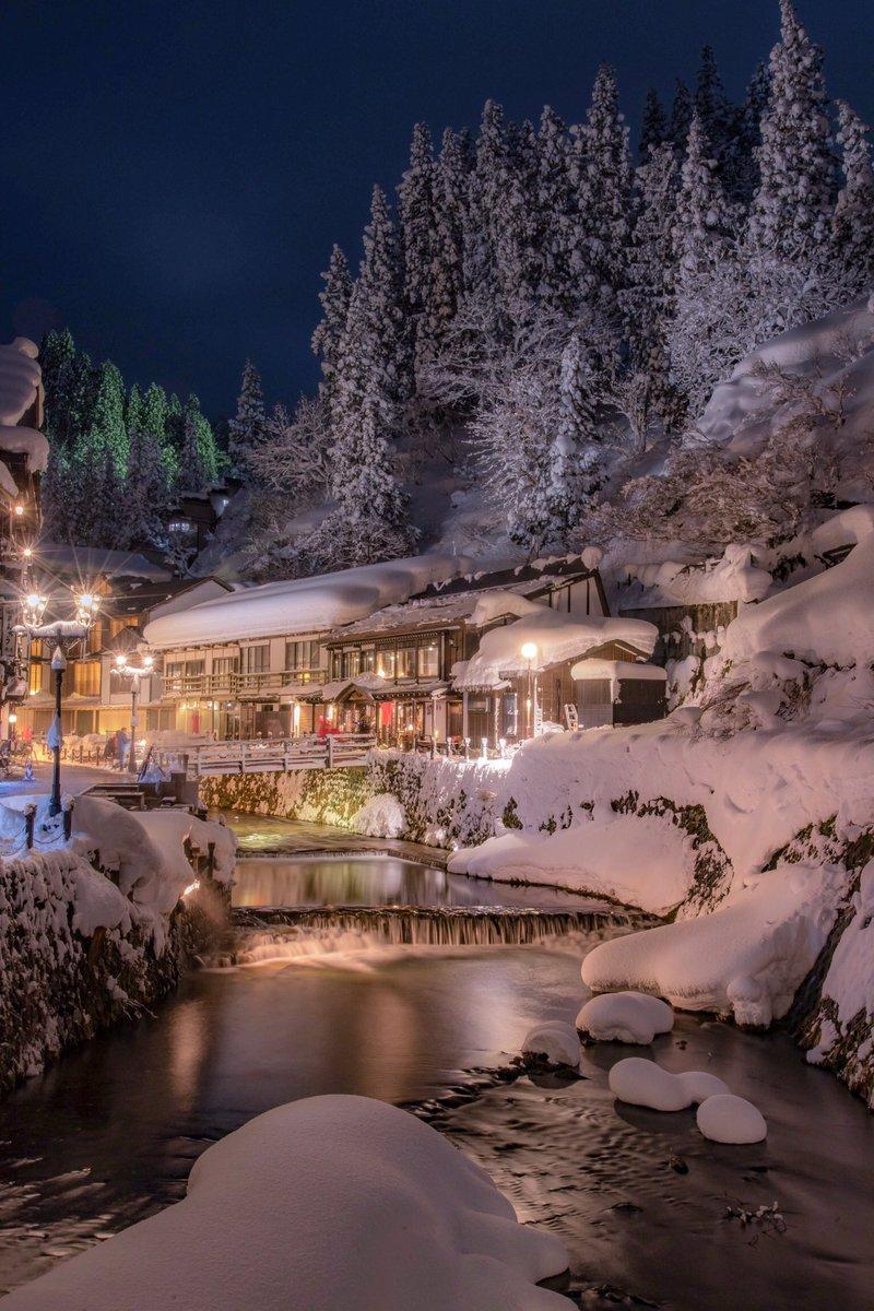 やっと出来上がった*\(^o^)/* 銀山温泉は東北が誇る冬の美景☃️