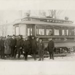 How about this for #FlashbackFriday? Here's a look at the first streetcar to travel from Detroit to Dearborn in 1897. (photo from Burton Historical Collection, @DetroitLibrary)