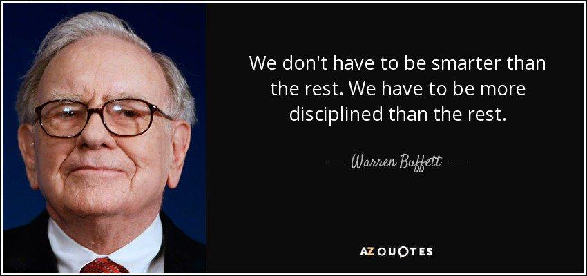 Discipline, Discipline and Discipline is...