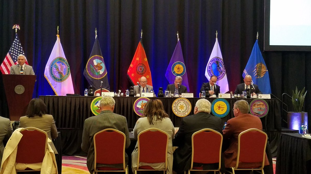 Civilized Tribes To The General Session Of Inter Tribal Council In T Erville Cherokeenation Deputy Chief S Joe Crittenden And Tribal Councilors