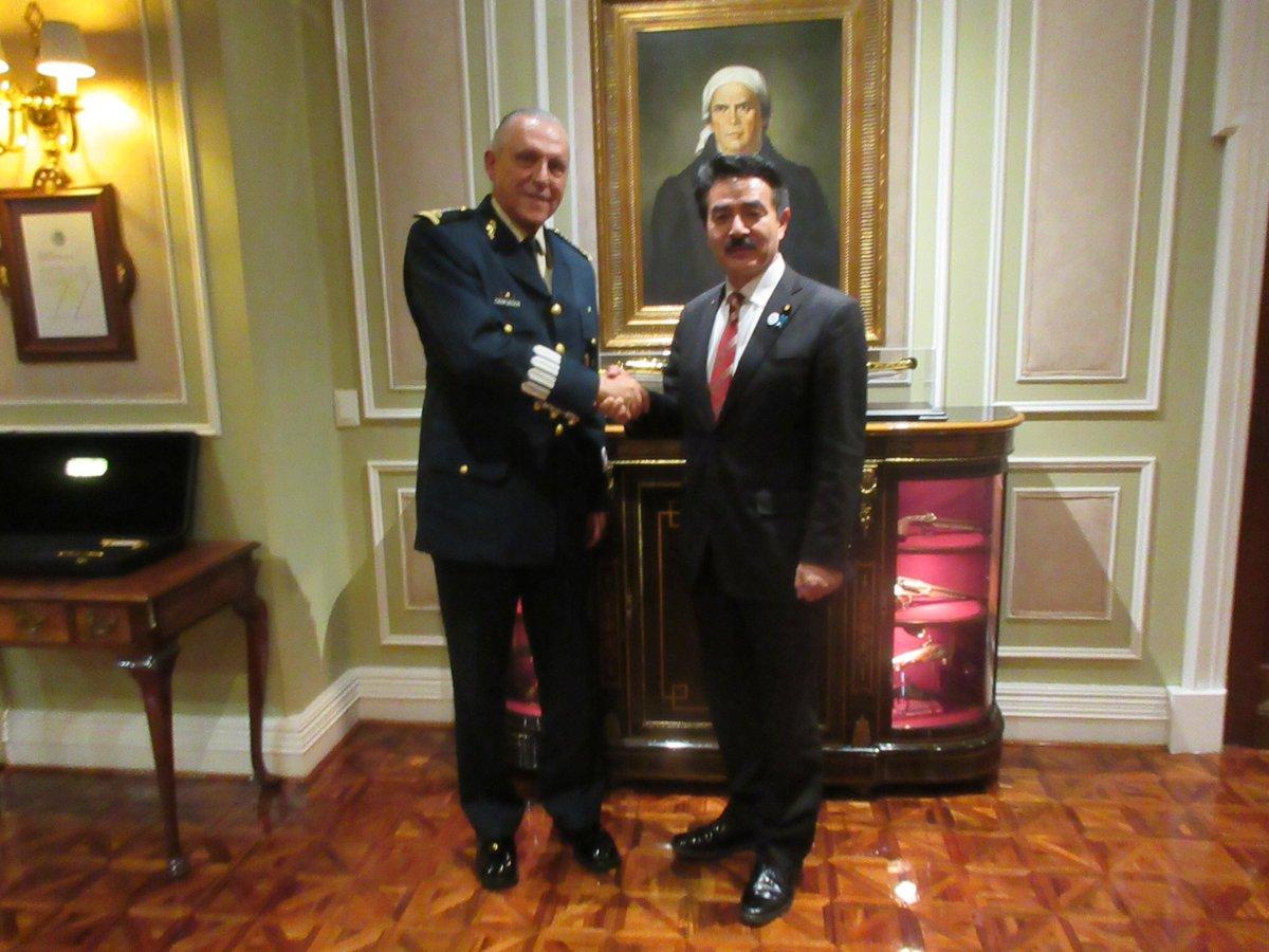 【メキシコのシエンフエゴス国防大臣との意見交換】 シエンフエゴス国防大臣は東京で駐在武官の経験もある…