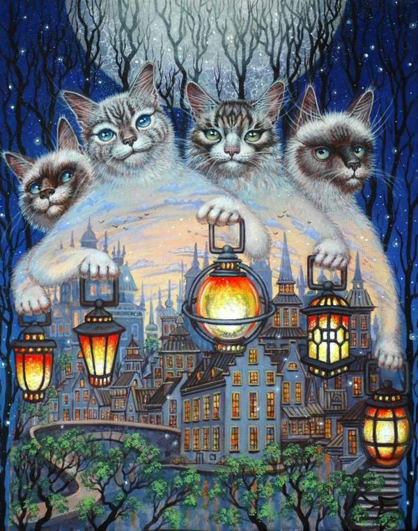 грэй хорошего вечера кошки картинки красивый