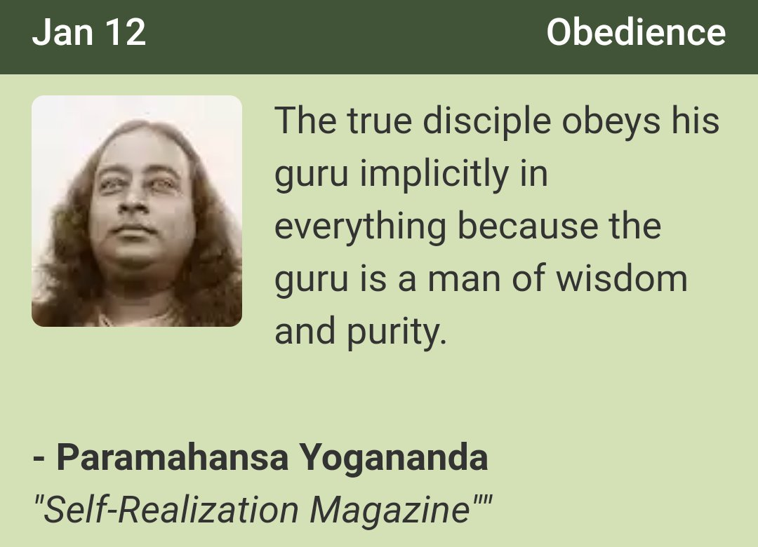 Spiritual Diary On Twitter The True Disciple Obeys His Guru Implicitly In Everything Because The Guru Is A Man Of Wisdon And Purity Sri Sri Paramahansa Yogananda Paramahansayogananda Yoga Yogi Meditation Obedience