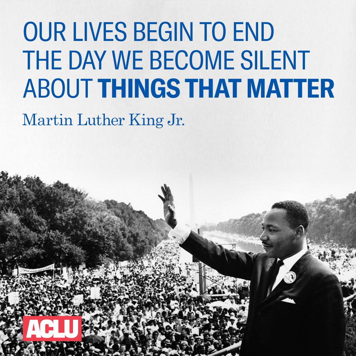 We honor the life and legacy of Martin Luther King Jr. #MLKDay https://t.co/9TCmq3x8Ww