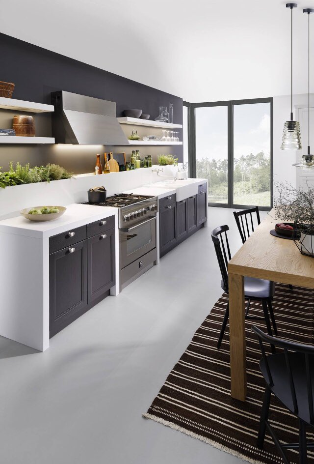 Envie de #blanc ? #blackandwhite #kitchendesign #inspiration #Interiors @VisiteDeco