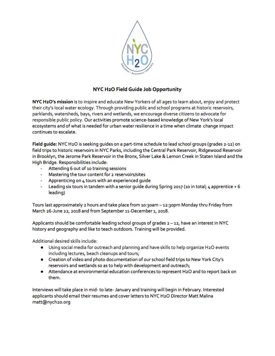 nyc h2o on twitter job posting nyc h2o is looking for rh twitter com nyc marathon training guide nyc marathon training guide