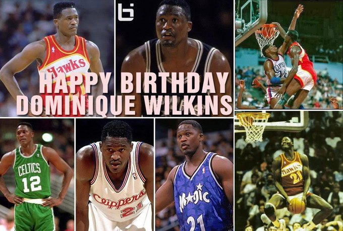 Happy Birthday to NBA legend Dominique Wilkins!  THE HUMAN HIGHLIGHT FILM VIDEO TRIBUTE: