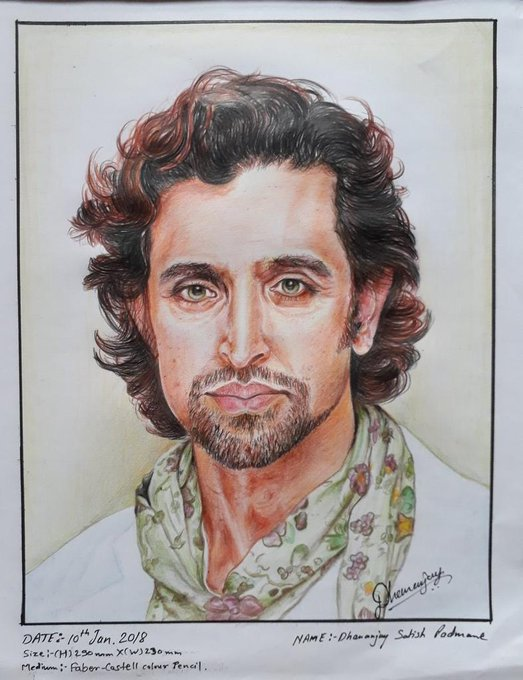 Belated Happy Birthday to you Hrithik Roshan sir. This Sketch is dedicated on your birthday occasion.