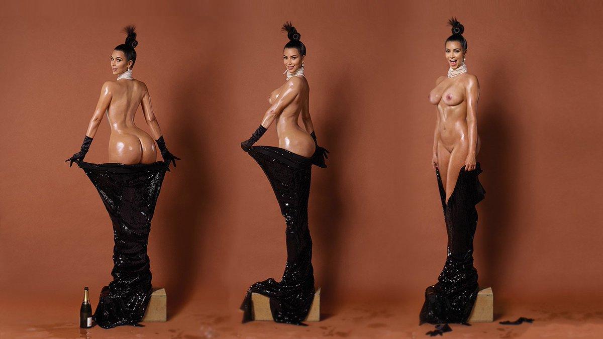 Double Your Pleasure Kim Poses For Topless Shot With Emily Ratajkowski