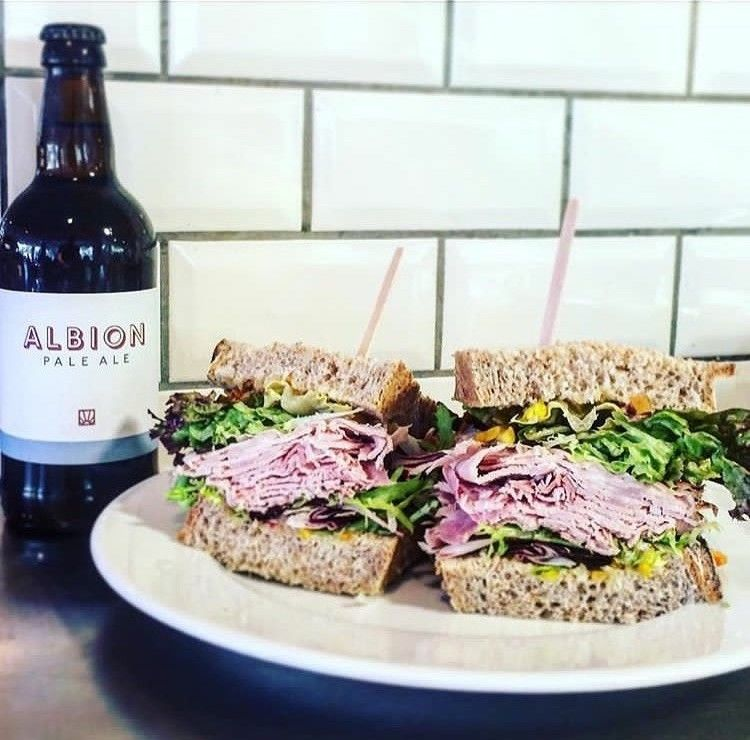 Now that's a filling – the classic British ham & piccalilli sandwich getting us through the day. Albion pale ale optional, but certainly recommended  #albion #albionclerkenwell #albionshoreditch #shoreditch #londonfood #londonrestaurant https://t.co/AbLV9NXmc0