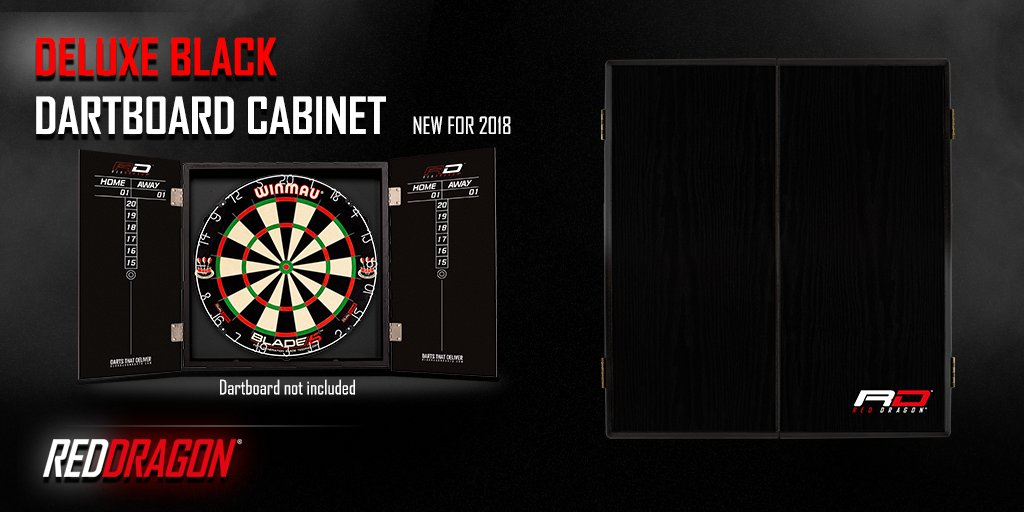 Quality Built Black Red Dragon Dartboard Cabinet. Suitable For All Winmau,  Red Dragon And Nodor Dartboards. #RedDragonDartspic.twitter.com/p6SjmI6QD6