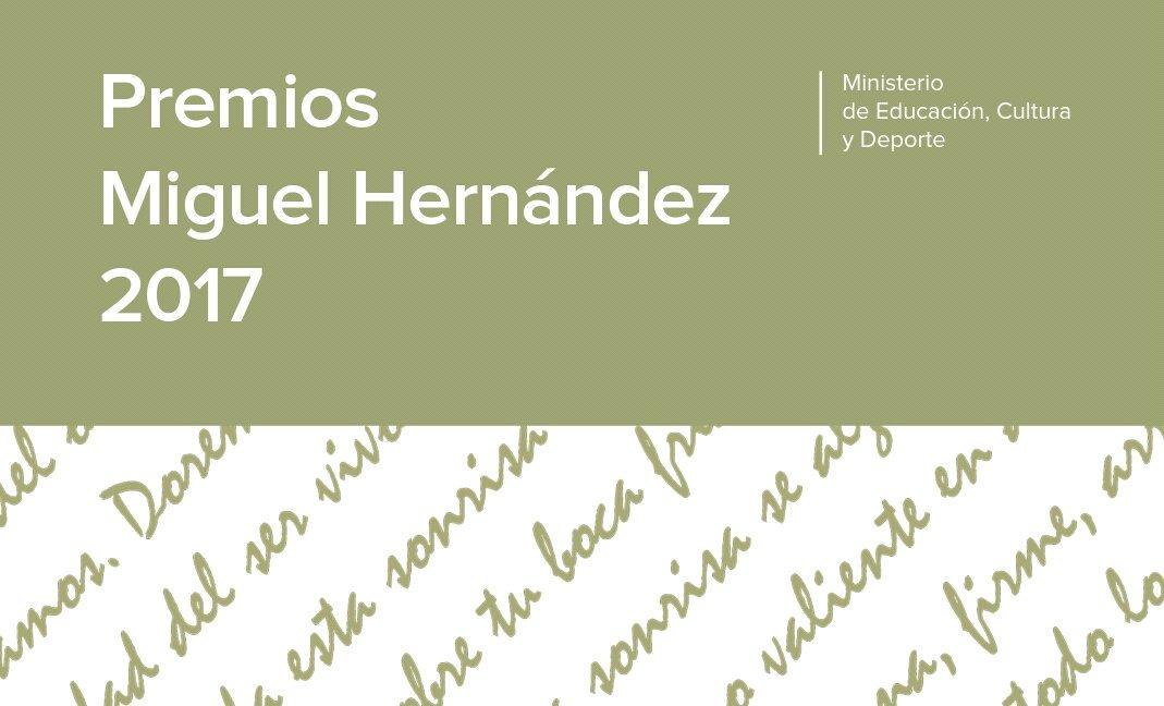 Resultado de imagen de Premios Miguel Hernández, edición 2018.
