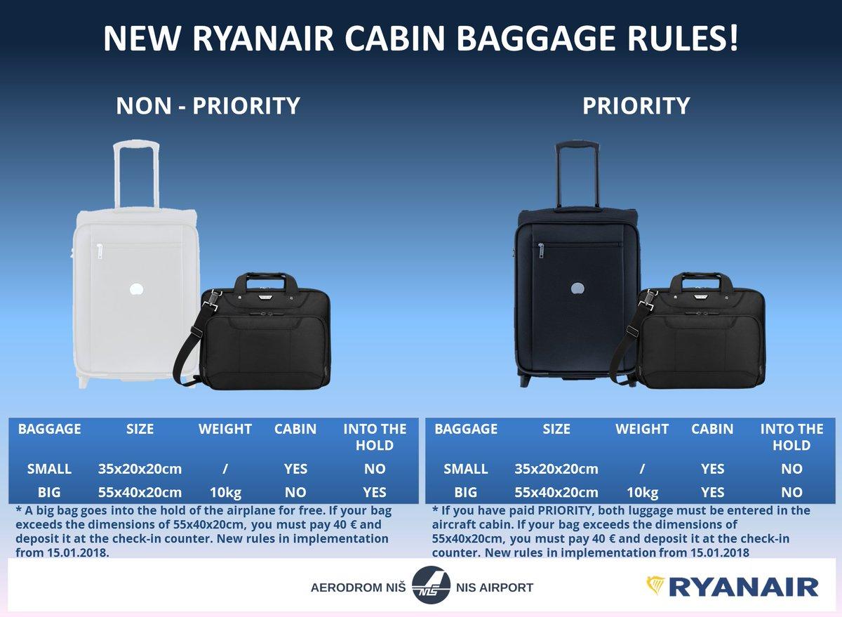 """Aerodrom Niš on Twitter: """"Poštovani #putnici, #Ryanair od ..."""