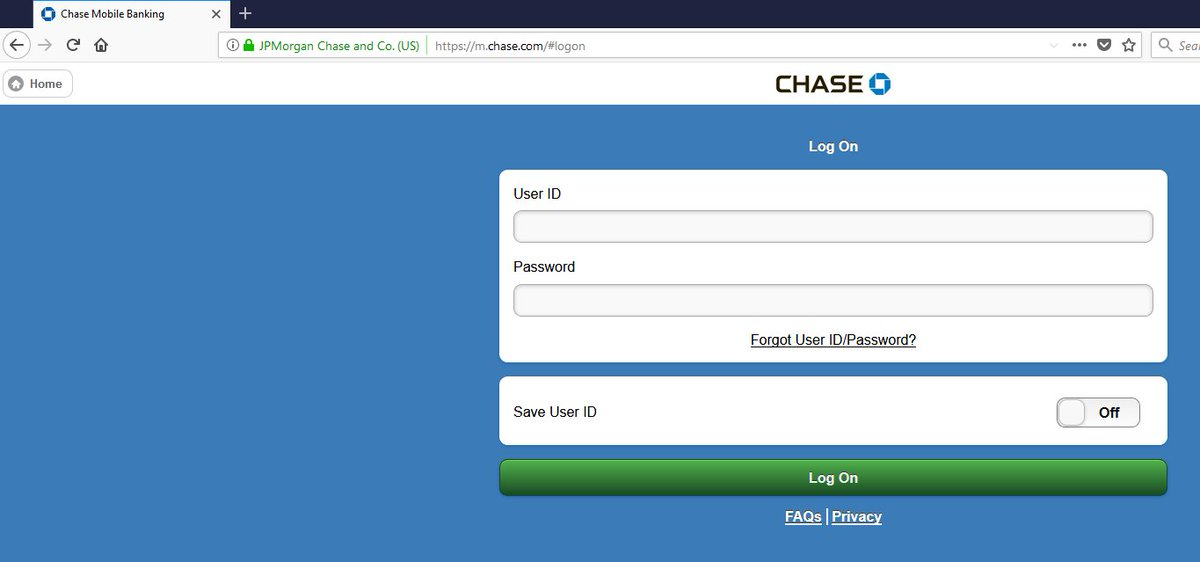 Desktop Site But As Soon I Click Login Get Redirected To The Mobile Version M Chase What S Deal Using Firefox 57 0 4 On