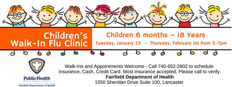 Children S Walk In Flu Clinic Children 6 Months 18 Years