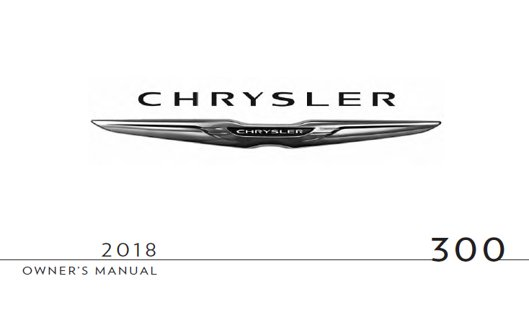 chrysler 300 owners manual 2018