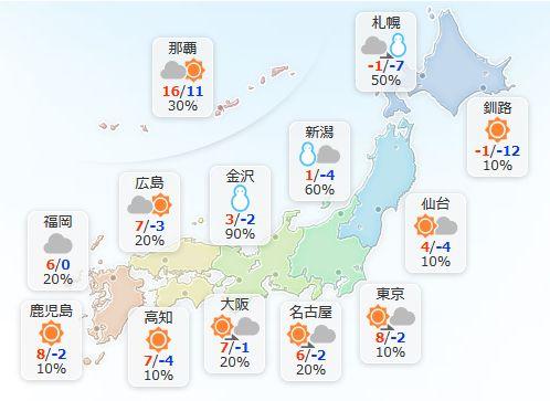 【1月13日(土)】日本海側の地方は雪が降りやすく、北陸では雷を伴って降り方が強まり、雪の降る量が更…