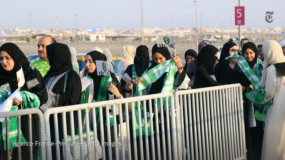 Saudi women were allowed to attend soccer match at a public stadium for the first time, marking a new step in the government's efforts to loosen gender restrictions https://t.co/zNkmdGcMUm