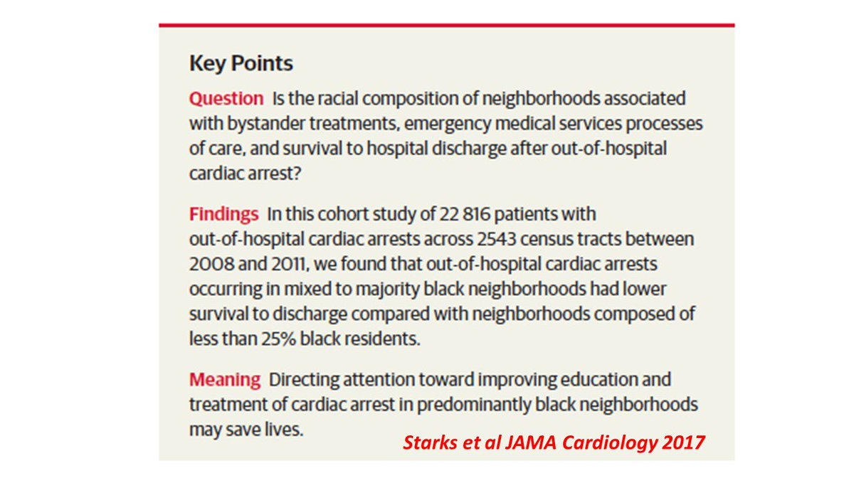 This was further extended by a recent publication by M Anderson Stark. Bottom line – where you live and who you are matters! How can we address these disparities? #sciparty <br>http://pic.twitter.com/67VCyegf9j
