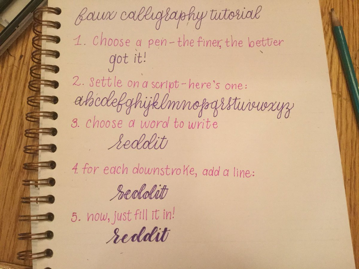 Faux calligraphy tutorial for those who don t have brush pens
