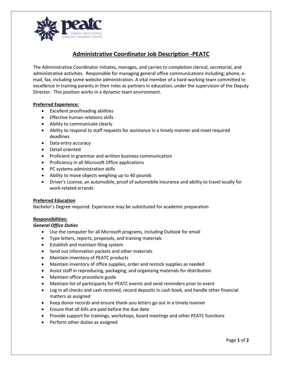 Cover Letter For Administrative Coordinator from pbs.twimg.com