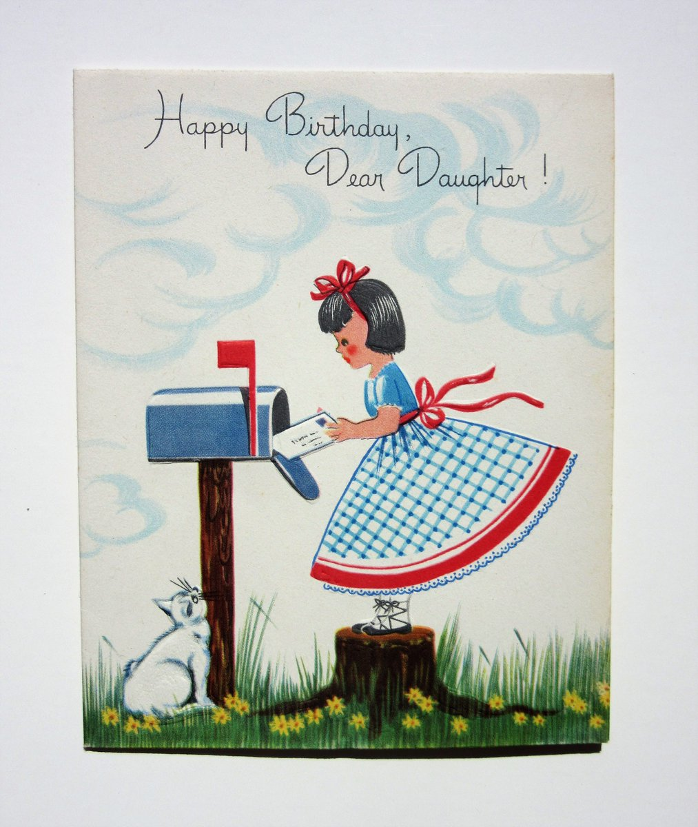 Antique Love On Twitter Vintage Unused Embossed Happy Birthday