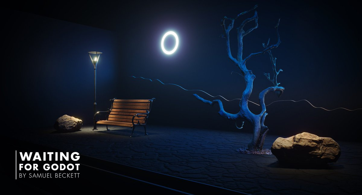 Creative Lighting On Twitter Waiting For Godot Play By Samuel