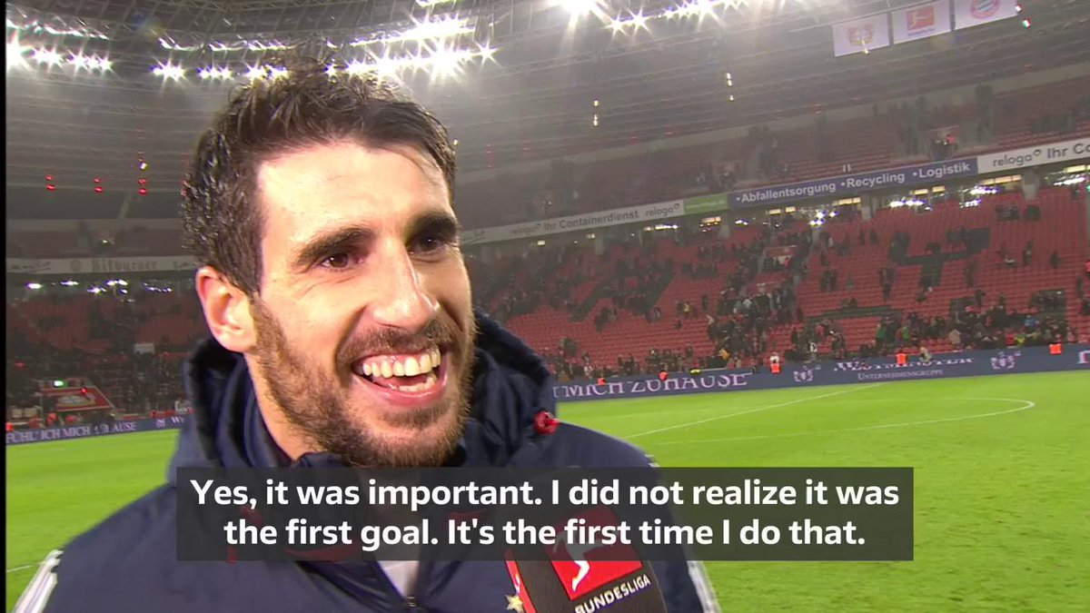 RT @Bundesliga_EN: 🎙 @Javi8martinez dedicates his goal to his baby boy 👶 #B04FCB https://t.co/heYOr7Mjct