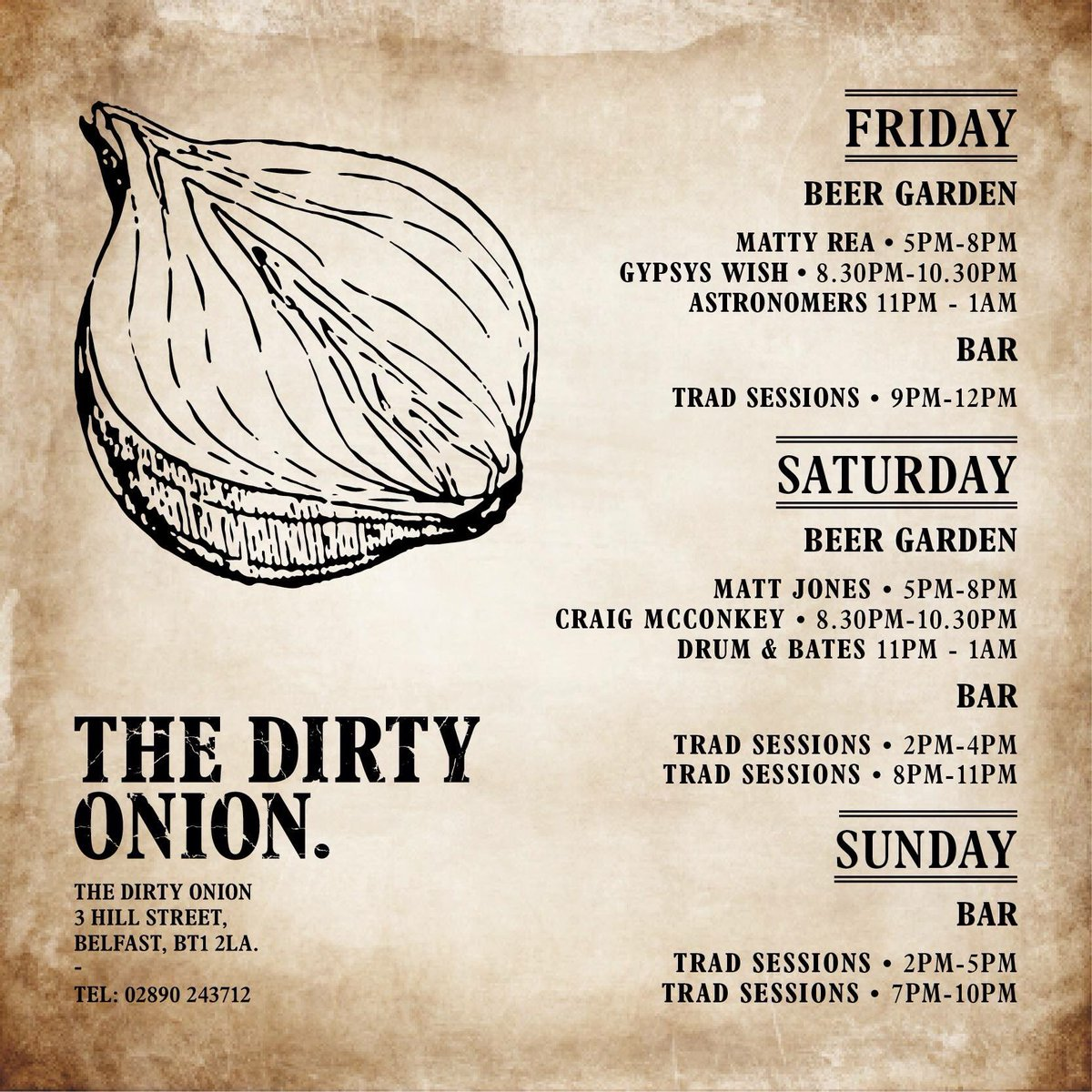 Live music this weekend!!