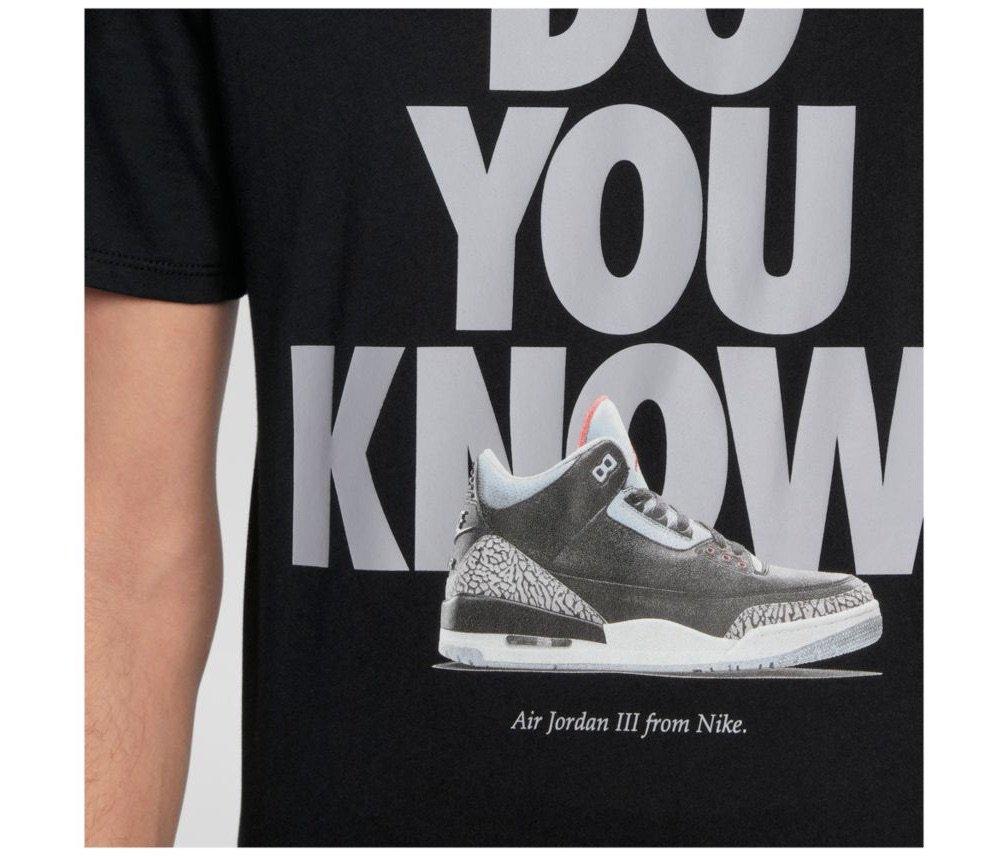 "791496ca7103 Air Jordan 3 ""Do You Know"" Shirt available now on Eastbay with FREE  shipping Black -  https   go.j23app.com 5xr White -   https   go.j23app.com 5xs Grey ..."