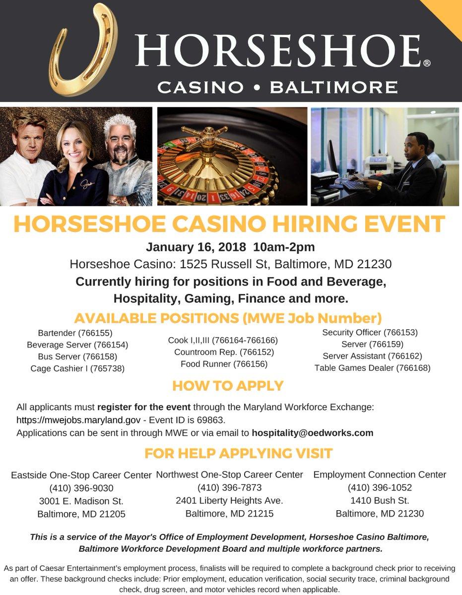 horseshoe casino employment