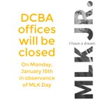 Our offices will be closed on Monday and we will resume normal business hours the following day. #MLKDay
