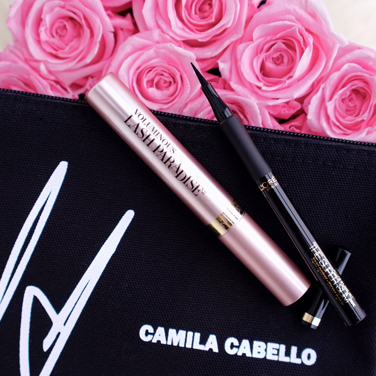 To celebrate the release of @Camila_Cabello's new album, we're launching a Camila makeup bag with L'Oréal Paris products so you can get Camila's eye look and glowing skin ✨ Purchase a discounted code to download the album or shop the makeup bag here: http://bit.ly/2Dpd7Ej