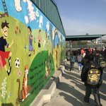 Through a partnership with @ITOFoundation and the @weareocsa artist Mihye Joy created a masterpiece.  10 students at the school devoted almost 1000 hours to this dynamic new mural @OrangeGroveACSD which will last for generations to come.