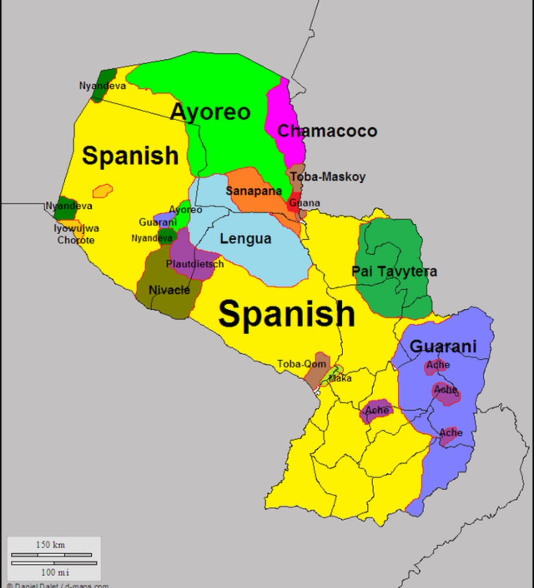 Paul B Barby On Twitter Language Regions Of Paraguay One Of - Latin language map