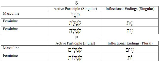 Hebrew Strong Verb Participle