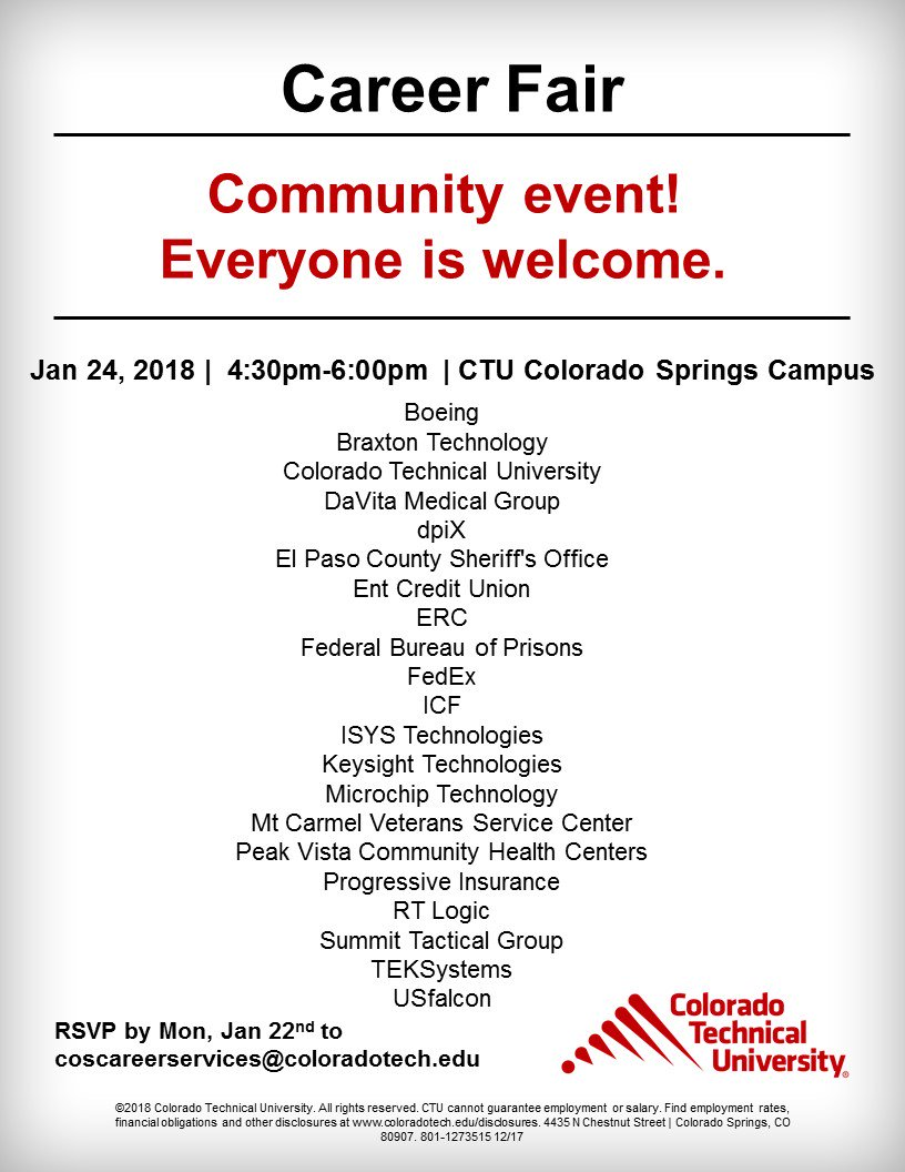 Ctu On Twitter Coloradosprings Students Alumni And Community